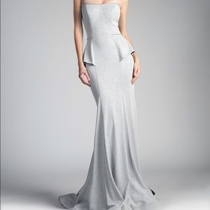 Silver prom or formal occasion dress